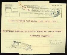 F322_TELEGRAMMA DI VITTORIO VALLETTA - FIAT