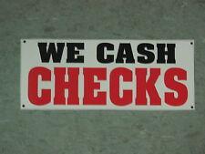 WE CASH CHECKS BANNER Sign