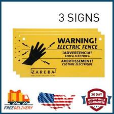 Zareba 3-Pack Electric Fence Warning Signs 680828 Ws3