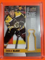 2019-20 Upper Deck Series 1 UD Game Jeesey #GJ-CH Charlie McAvoy Boston Bruins