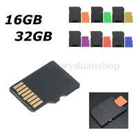 8 16 32 GB TARJETA MEMORIA MICROSD MICRO SD TF MEMORY CARD CLASE 10&ADAPTADOR
