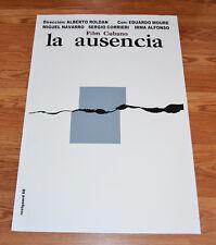"24x36"" Cuban movie Poster 4 film La ausencia.The absence.LAST 1"