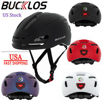 BUCKLOS Adult Road Bicycle MTB Adjustable Helmet USB Rechargeable LED Rear Light