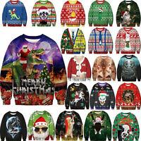 Unisex Ugly Christmas Sweater Funny Santa Womens Mens Xmas Party Fashion Tops AU