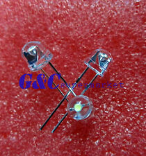 100PCS F5 5mm WHITE Straw Hat Superbright LED Light LED Lamp