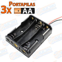 PORTAPILAS 3x AA R6 4,5v con cable alimentacion PCB battery holder