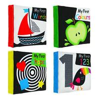 4PCS Soft Baby Cloth Book Infant Educational Black White Cognize Cloth Book Toys