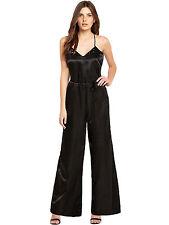 BNWT Definitions Black Satin Beaded Wide Leg Jumpsuit Playsuit Size 14 RRP £55