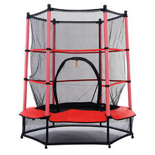 """Oypla 55"""" Kids First Trampoline With Safety Net Enclosure & Red Cover (3248)"""