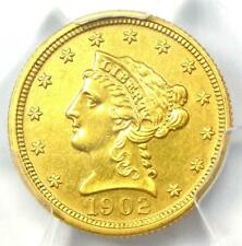 1902 Liberty Gold Quarter Eagle $2.50 Coin - Certified PCGS AU Details
