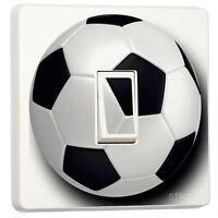 Football Black & White Light Switch Sticker vinyl cover skin by stika.co