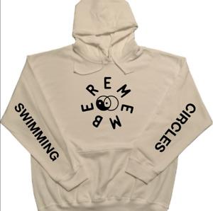 Mac Miller Hoodie Swimming Circles White w/ Black Print