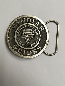 YMCA Indian Guides Belt Buckle Father and Son Y-Indian