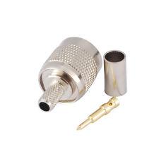 Brass Nickel TNC Male Plug Crimp RF Coxail Connector