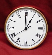 """Complete Clock Insert Fit Up Movement Dial 6"""" Diameter White Roman Dial GWR6.0"""