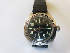 Soviet Amphibian Diver Watch Vostok Men's Antimagnetic Ussr Military Steel 200m