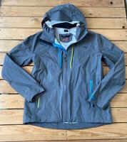 Kjus Men's Full zip Hooded Waterproof rain jacket Size M Grey G1
