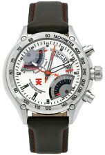 TX Men's T3C180 650 Flyback Chrono Dual Time Silver Dial Stainless Steel WATCH