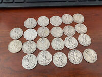 Silver Walking Liberty Half Dollar - Lot of 22 coins silver 90%