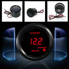 "HOTSYSTEM 2"" 52mm Digital Red LED Electronic Volt Voltmeter Gauge Meter US Stock"