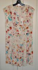NWT Rebecca Taylor sz 12 cream silk Poppy Godet floral dress $375