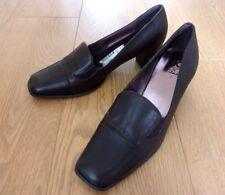 K by Clarks Ladies Court Heel Dark Brown Leather Shoes Size UK 7 EU 41