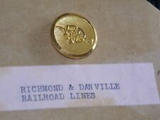 R & D Richmond and Danville railroad uniform button  7/8 dia