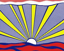 Lichtenstein Roy Sunrise 16 x 20   #4760