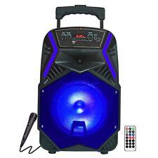 """Fully Amplified Portable 1600 Watts Peak Power 8"""" Speaker - ANGEL8 Blue"""