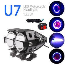 2Pcs 125W Motorcycle U7 LED Driving Headlight Fog Lamp Spot Light