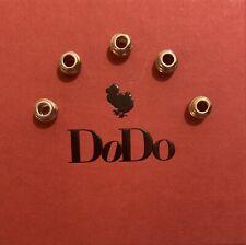5x Genuine Dodo 9ct Rose Gold Wave Bead