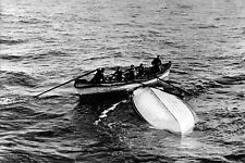 """New 5x7 Photo: Overturned Collapsible """"B"""" Lifeboat from RMS TITANIC Disaster"""