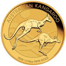 2018-P Australia 1/10 oz Gold Kangaroo - $15 Coin GEM BU SKU49071