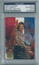 Pat Summitt 1994 Flair USA PSA DNA Certified Authentic Auto Autograph Tennessee