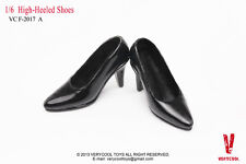 "1:6 Very Cool High-Heel Shoes in black for 12"" Action Figure Accessories VCF2017"