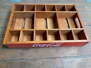 Coca Cola Echtholz Tablett , Kiste , Vintage , Holz Getränkehalter, Partytablett
