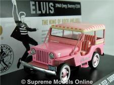 ELVIS JEEP SURREY CJ3B MODEL CAR 1:43 SIZE GREENLIGHT 86472 GRACELAND PINK R01