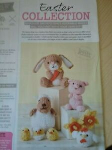 Easter Collection miniature soft toy knitting pattern. Double Knitting Yarn.