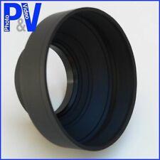 3 Position Rubber Lens Hood 62mm - Canon Nikon etc