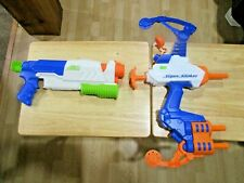 Nerf Super Soakers Tidal Torpedo Bow and A Scatter Blaster