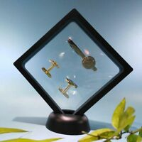 Floating Frame Jewelry Collectibles Album Show Case Display Box Stand Holder