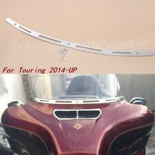 Metal Slotted Windshield Trim For 2014-2019 Harley Electra Street Tri Glide CVO