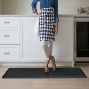 Kitchen Floor Mat 20x72 Anti Fatigue Comfort NewLife GelPro Leather Grain Black