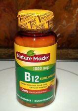 Nature Made Vitamin B12 Sublingual 1000 mcg 50 micro lozenges Cherry Flavor New