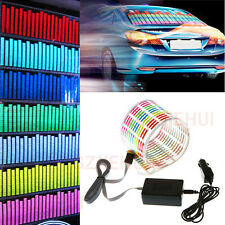 Car Sticker Music Rhythm LED Flash Light Sound Activated Equalizer Lamp 90*10CM