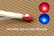 DT0805RB 20pcs Pre-soldered litz wired leads Bi-color RED/BLUE SMD Led 0805 DUAL
