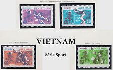 VIETNAM N°372C/372F** SPORT TENNIS TIR NATATION LUTTE , 1982 Vietnam MNH