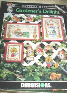 Gardener's Delight Barbara Mock Cross Stitch Craft Book Church/Birdhouse++