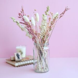 Pink Dried Flower Letterbox Bouquet