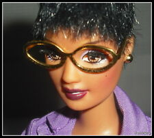 GLASSES MATTEL BARBIE UPTOWN CHIC DOLL GOLD FRAME NO LENS GLASSES ACCESSORY ITEM